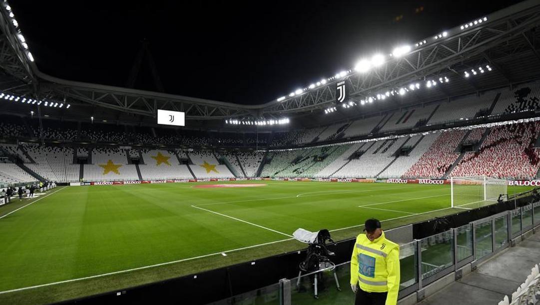 L'Allianz Stadium senza tifosi. Lapresse